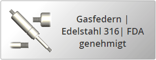 Edelstahl AISI 316 Gasfedern mit Gewinde