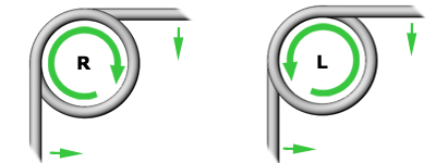 Drehfeder - Winkelrichtung
