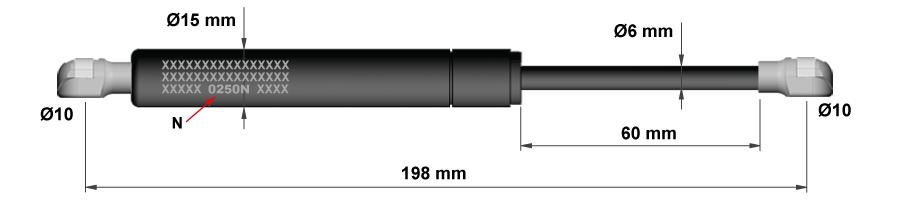 Gasdruckfedern für Küchenschränke - Modell 1a