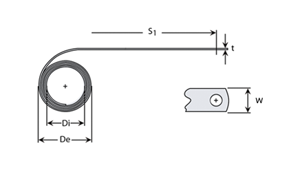 Technische Zeichnung - Konstantkraftfeder