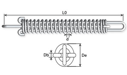 Technische Zeichnung - Vertäuungsfedern
