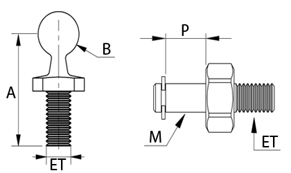 Technische Zeichnung - Kugel