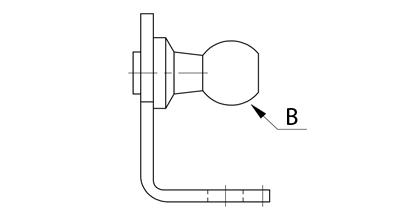 Technische Zeichnung - Beschlag mit Kugel