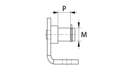Technische Zeichnung - Beschlag mit Dorn