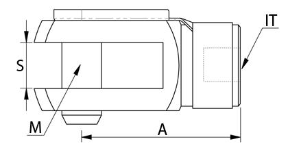 Technische Zeichnung - Gabelkopf