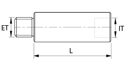 Technische Zeichnung - Verlängerung