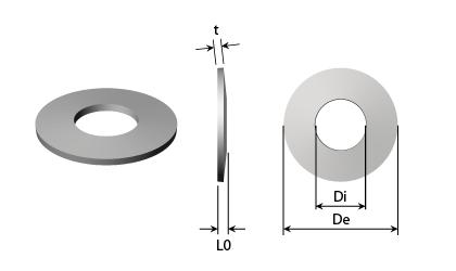 Technische Zeichnung - Tellerfedern